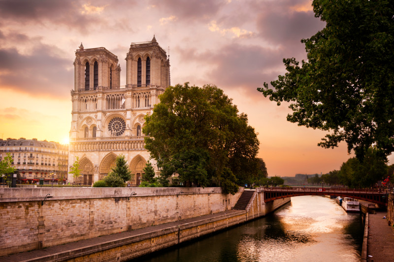 Notre Dame Cathedral monument, Paris, France