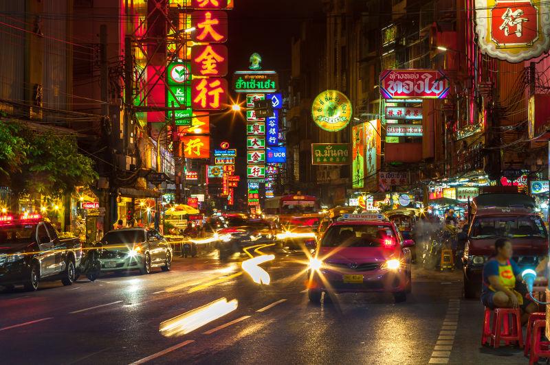 Bangkok's Chinatown at night, Thailand