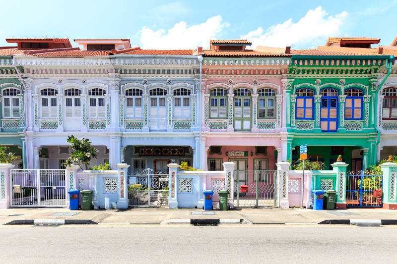 Peranakan buildings, Singapore.