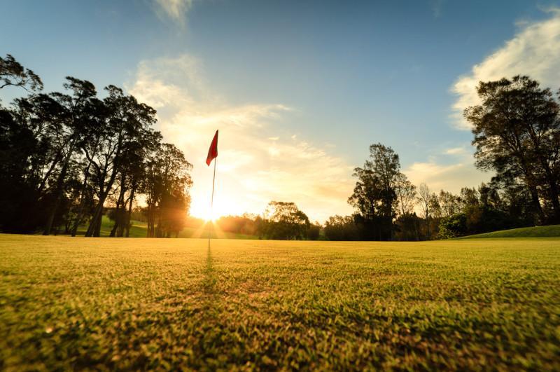 golf course at dawn australia