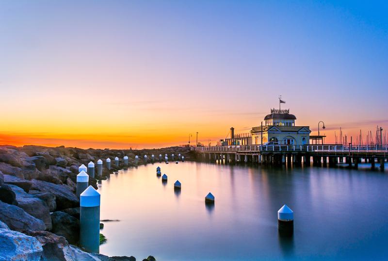 Pier and pavilion at St Kilda beach