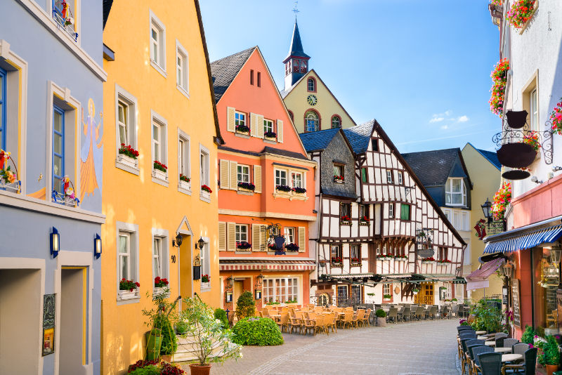 Town of Bernkastel-Kues on the Moselle River.