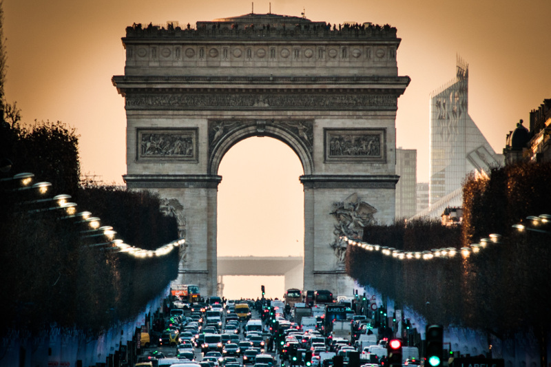 Arc de Triomphe monument, Paris, France
