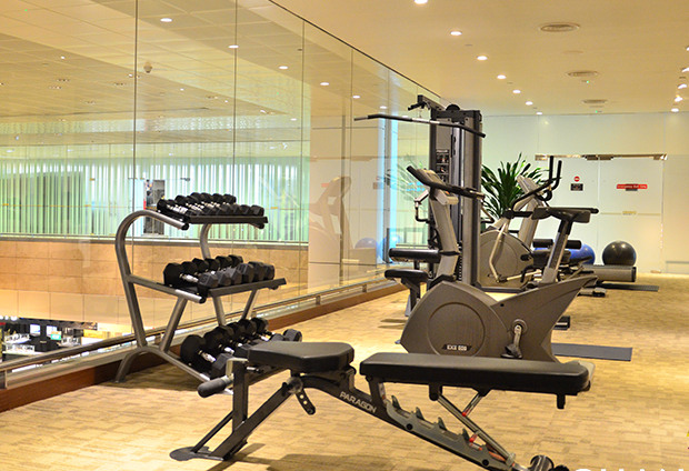 Gym at Ambassador Lounge, Singapore Changi Airport