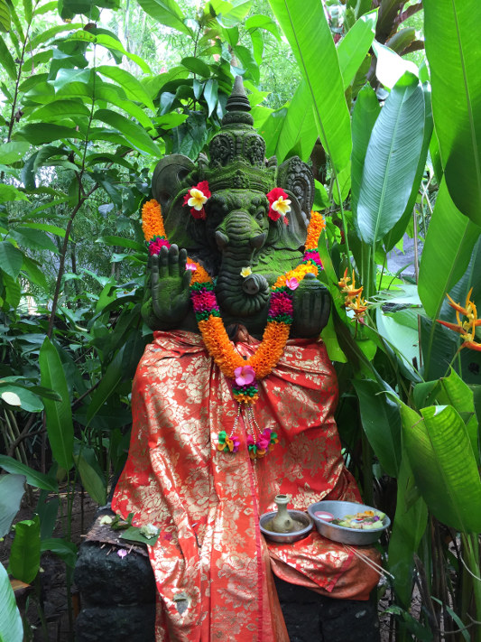 elephant god shrine in bali, indonesia