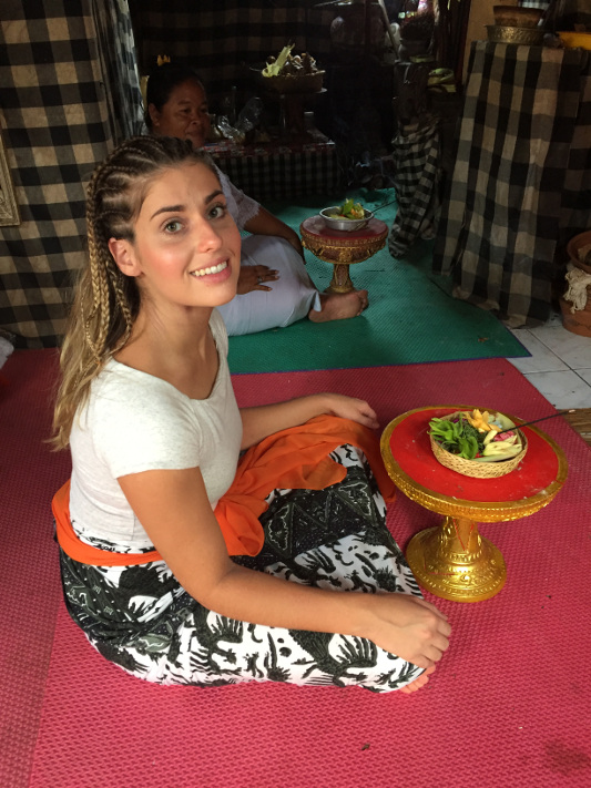 Customer and healer, before ceremony Bali, Indonesia
