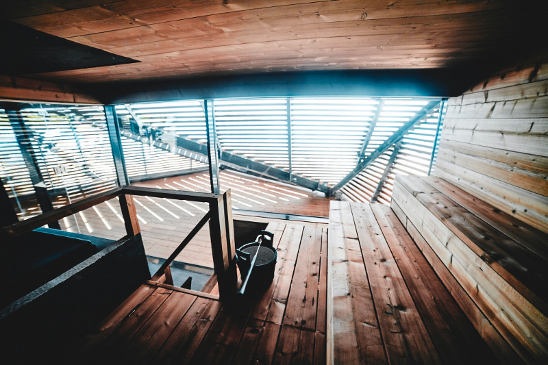 interior loyly sauna, helsinki finland