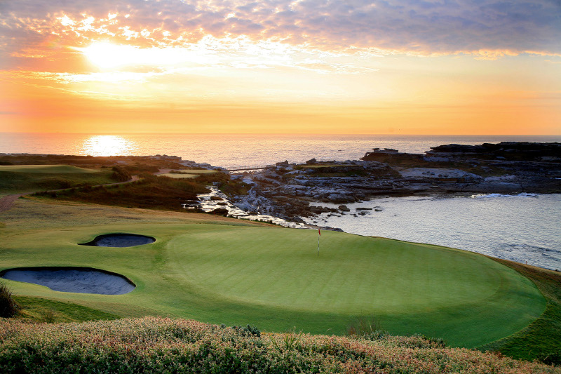 new south wales golf club hole 6 with ocean backdrop