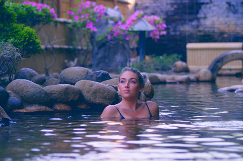 Woman in onsen