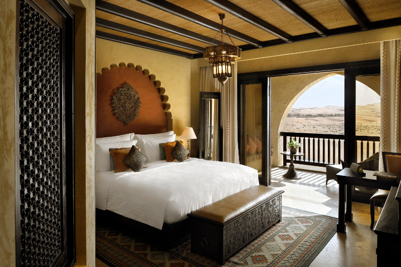 luxury hotel room in desert