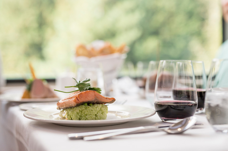 fine food and wine aboard Rocky Mountaineer
