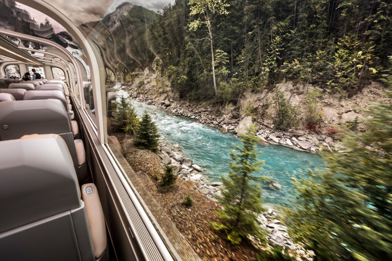 view of river from rocky mountaineer