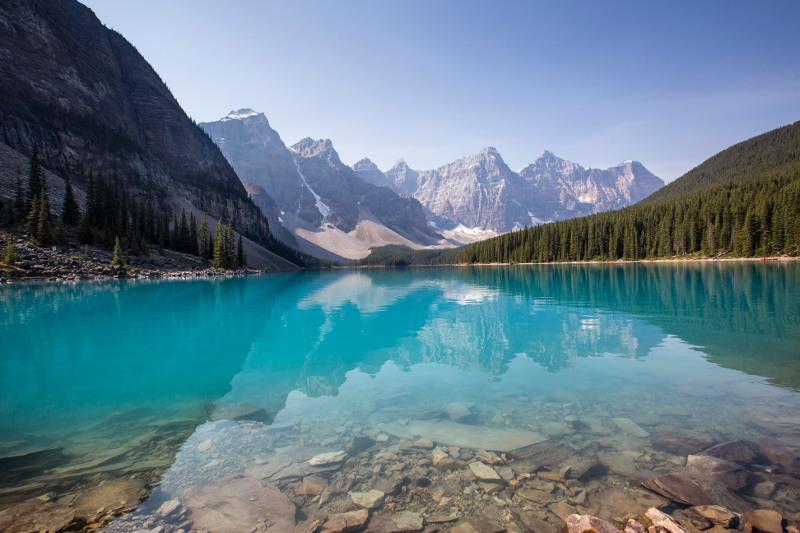 turquoise lake, Canada