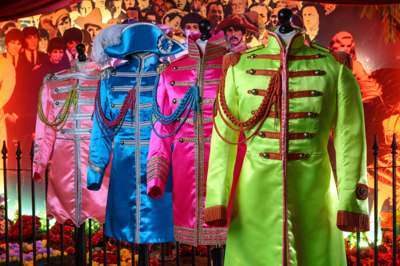 costumes from the Beatles Sgt Pepper album