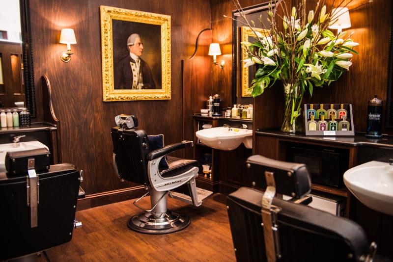 interior of Truefitt & Hill barber salon