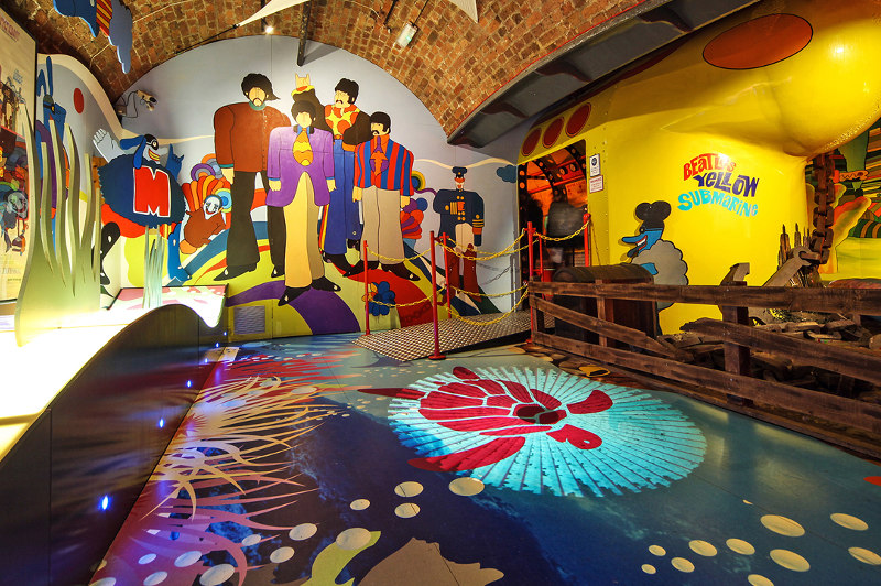 The Yellow Submarine exhibit at The Beatles Story, Liverpool.
