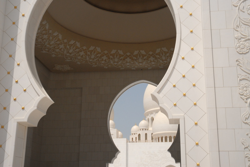 detail of the Sheikh Zayed Mosque, Abu Dhabi