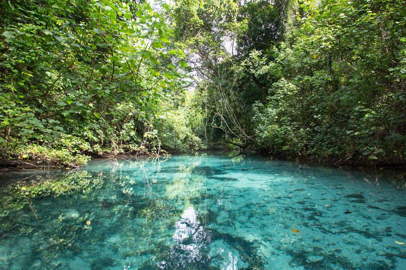 blue hole waterhole, Vanuatu