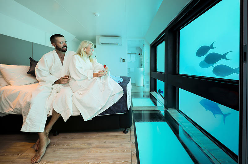 Couple in Reefsuites accommodation in the Great Barrier Reef