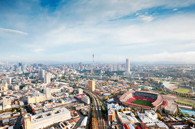 an aerial view of johannesburg