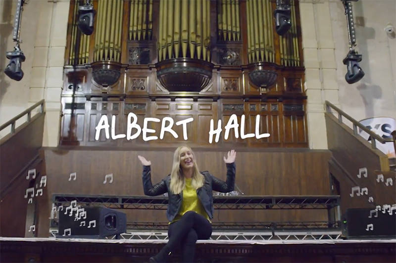 Inside Albert Hall in Manchester