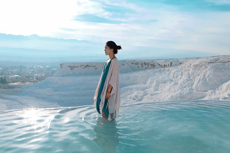 Woman at Pamukkale, Turkey