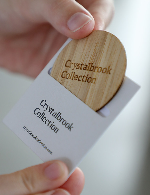 Wood guestroom cards at Riley, Cairns