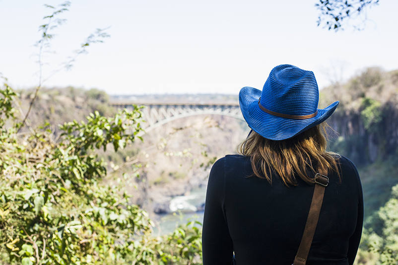 Looking at Victoria Falls from the Zambia side.