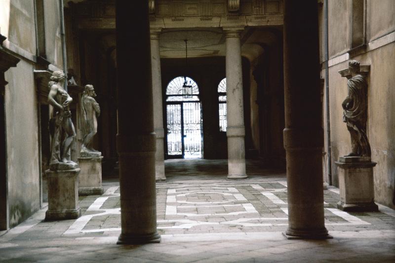 The interiors of the Ca' Rezzonico