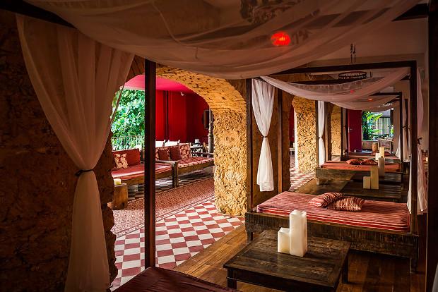 The intimate Bar dos Descasados in Rio de Janeiro, Brazil.
