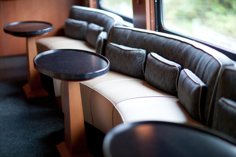 Comfortable seating on board Rocky Mountaineer