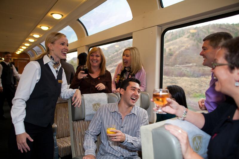 Passengers on the Rocky Mountaineer