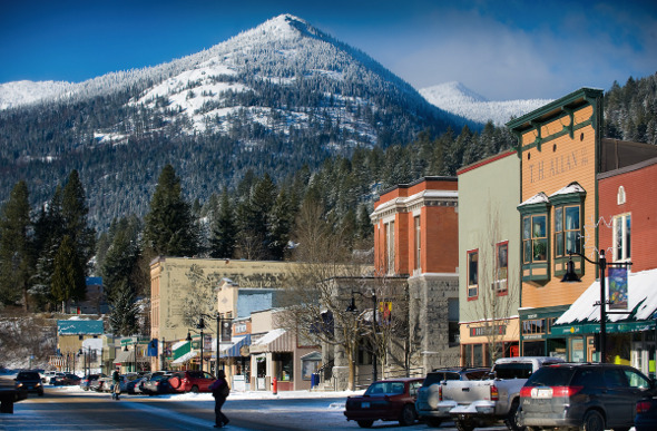 Red Mountain with the town of Rossland in the foreground