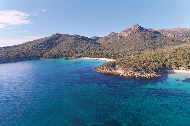 Freycinet National Park from above
