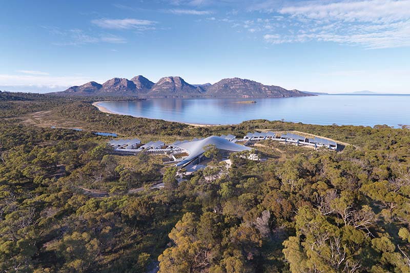 Saffire Freycinet from above