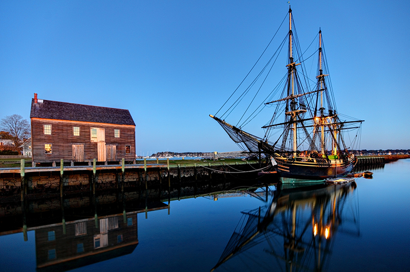 Salem, Massachusetts at sunset