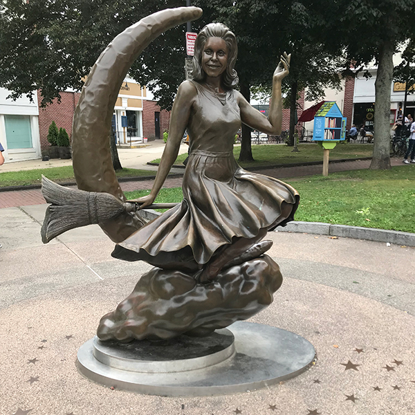 Bewitched statue of Elizabeth Montgomery in Salem, MA