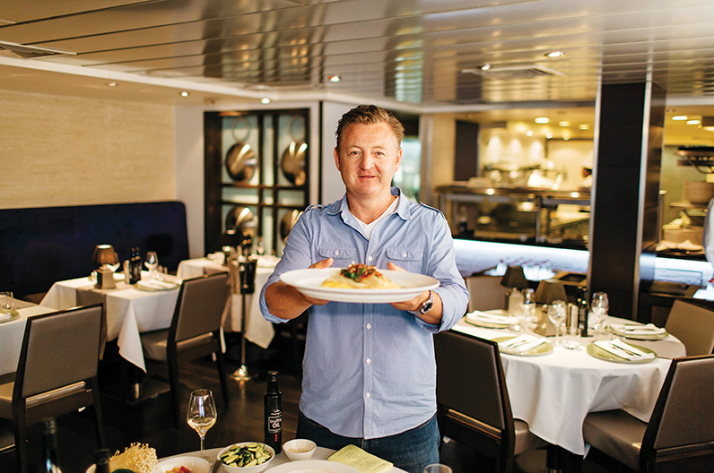 Aussie celeb chef Luke Mangan at Salt grill by Luke Mangan