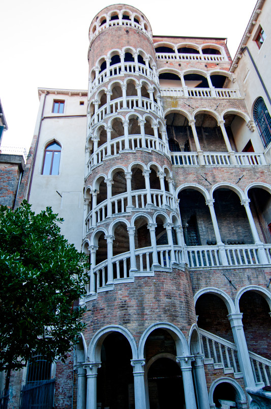 The exterior of the Scala Contarini del Bovolo