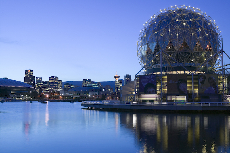 Science World on Vancouver's waterfront
