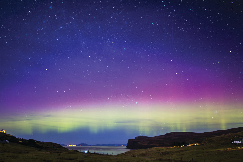 Northern Lights over the Hebrides