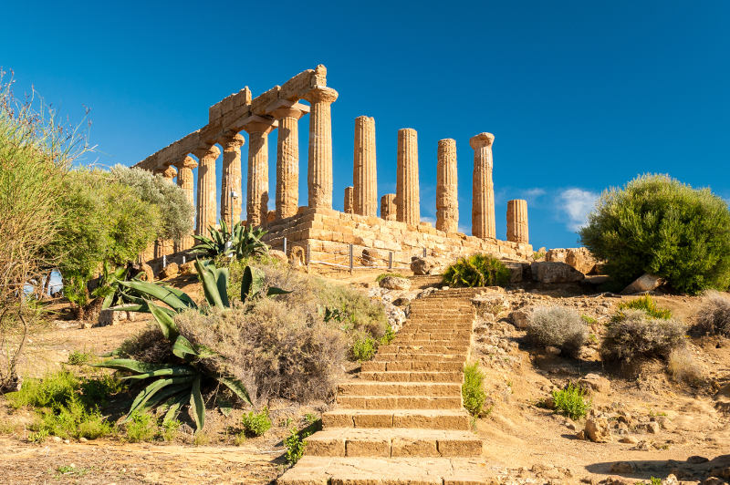 The Valley of the Temples at Agrigento.