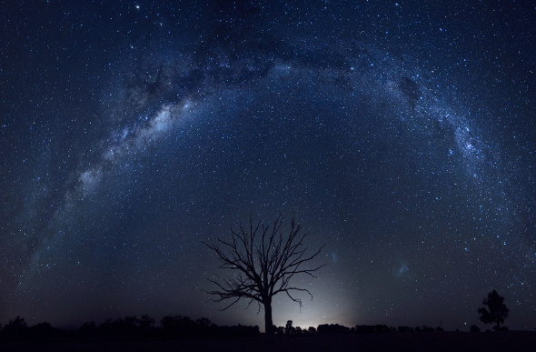 The Milky Way arches over the Australian Outback. Picture: Getty Images