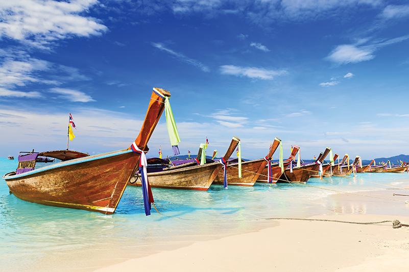 Longboats in Phuket, Thailand