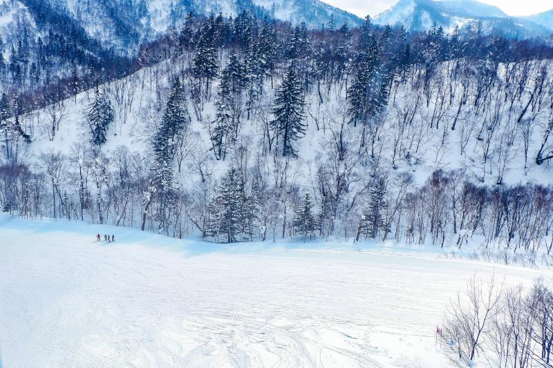A snowboarder in Sapporo