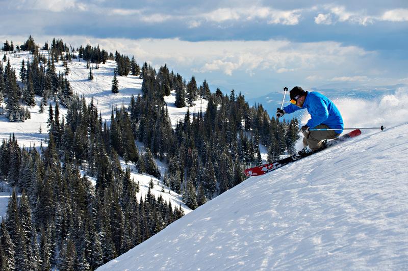 Skier at Sun Peaks Resort, Canada