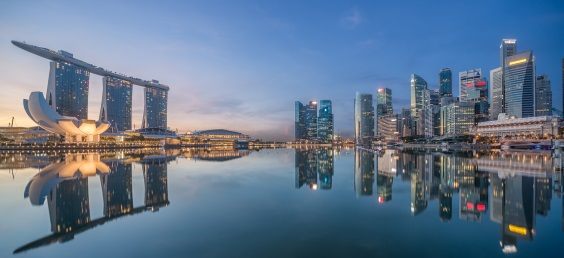 Skyline of Singapore hotels