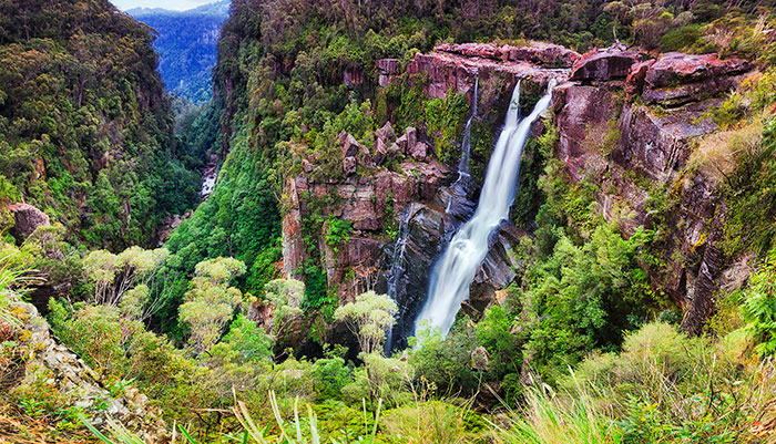 Southern Highlands bushland with waterfall
