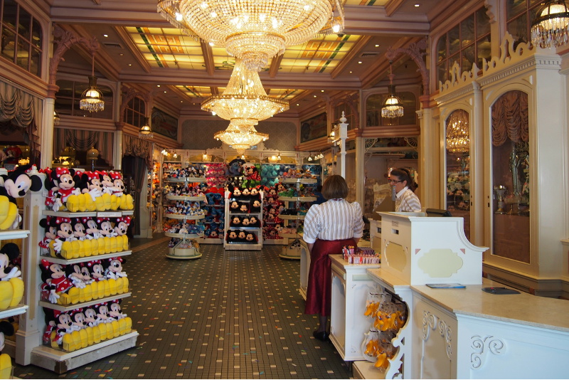 The inside of a souvenir shop at Disneyland