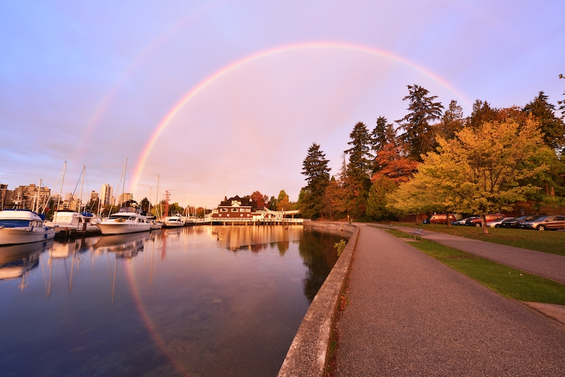 The waterfront in Stanley Park